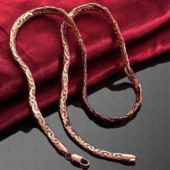【米蘭精品】鍍18K金純銀項鍊個性百搭簡約時尚73ce167