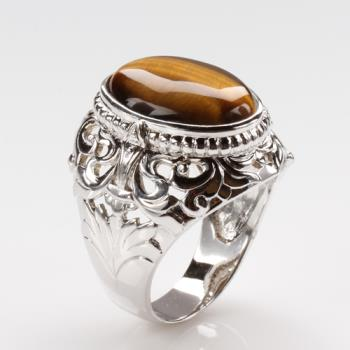 【寶石方塊】開創機運天然黃金虎眼石戒指