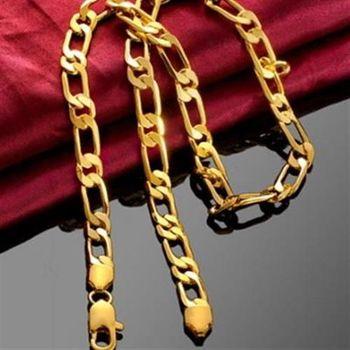 【米蘭精品】鍍18K金純銀項鍊簡約百搭歐美個性73ce275