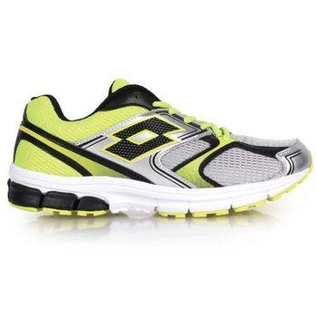 【LOTTO】男輕量跑鞋 -慢跑 路跑 灰螢光綠