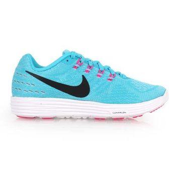 【NIKE】LUNARTEMPO 2女慢跑鞋-  路跑 健身 半馬 全馬 水藍黑