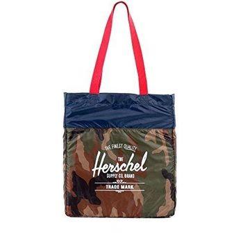 【Herschel】2016時尚綠迷彩色可壓縮手提包(預購)