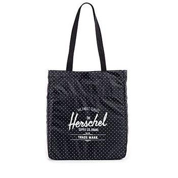 【Herschel】2016時尚黑色圓點可壓縮手提包(預購)