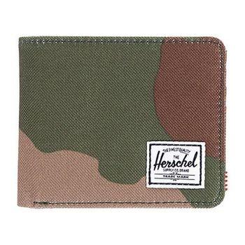 【Herschel】2016男時尚塗層棉織綠迷彩色皮夾(預購)