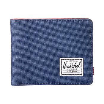 【Herschel】2016男時尚塗層棉織深藍色皮夾(預購)