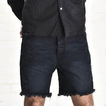 OneTeaspoon FOX BLACK MR. BLACKS 牛仔短褲- MR. BLONDES | 好萊塢破褲單寧時尚 OTS - 男 (黑)
