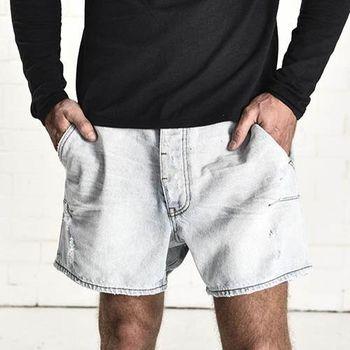OneTeaspoon BRANDO MR. BLONDES 牛仔短褲- MR. BLONDES | 好萊塢破褲單寧時尚 OTS - 男 (淺藍)