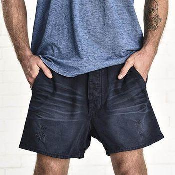 OneTeaspoon CAPRI MR. BLONDES 牛仔短褲- MR. BLONDES | 好萊塢破褲單寧時尚 OTS - 男 (深藍)