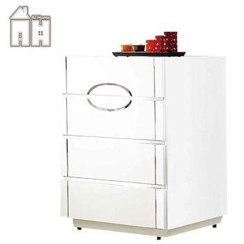 【AT HOME】天使2.7尺白色亮烤四斗櫃