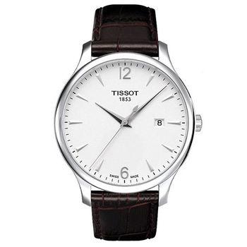 TISSOT TRADITION 復刻簡約大三針男用腕錶-42mm/T0636101603700
