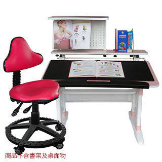 【第一博士】T8手搖成長書桌椅組(粉紅色)