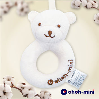 【ohoh-mini】有機棉小熊甜甜圈安撫玩具