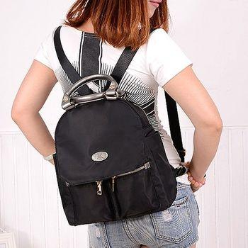 【Acorn*橡果】韓版學院時尚牛津布防水後背包6540(黑色)