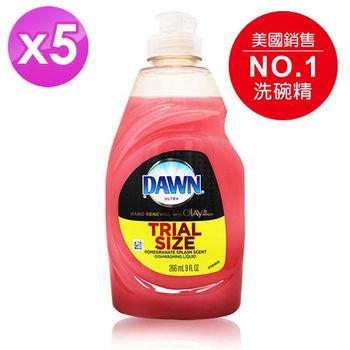 【美國 DAWN 】濃縮護手洗碗精(紅石榴)(266ml/9oz) 5入組