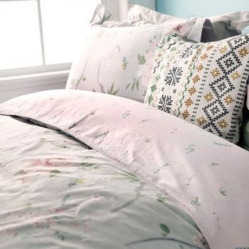 BBL 芙蓉夢蝶100%純棉雙人兩用被床組