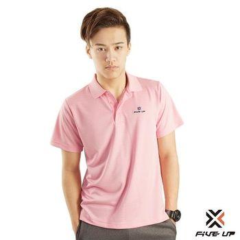 FIVE UP 條紋吸排POLO衫-粉紅【2411137441】