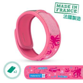【PARAKITO帕洛】法國帕洛天然精油防蚊手環-兒童款粉紅海洋