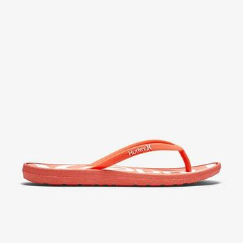 Hurley - WOMEN S ONE  ONLY PRINTED SANDAL 人字拖 - 女(橘紅)