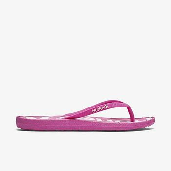 Hurley - WOMEN S ONE  ONLY PRINTED SANDAL 人字拖 - 女(桃紅)