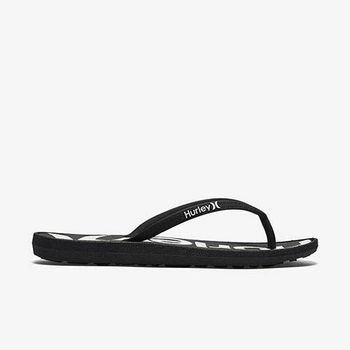 Hurley - WOMEN S ONE  ONLY PRINTED SANDAL 人字拖 - 女(黑)
