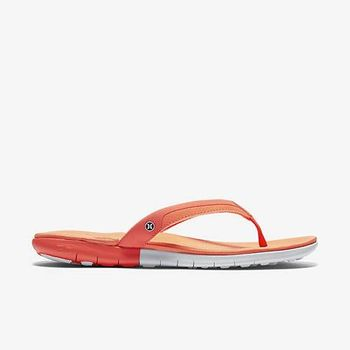 Hurley X Nike Free 科技 - WOMEN S PHANTOM FREE SANDAL 人字拖 - 女(粉橘)