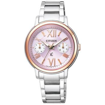 CITIZEN XC系列光動能愛戀羅馬時尚女用腕錶-33mm/FD1094-53W