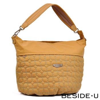 BESIDE-U - Simplexity系列 俐落立體格紋3Way水桶包