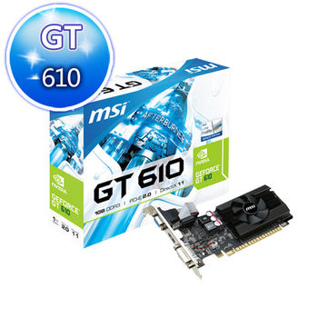 MSI 微星 N610-MD1GD3/LP 顯示卡