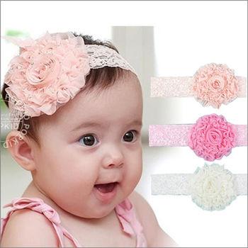 【兩件入】韓國可愛寶寶時尚雪紡花朵髮帶