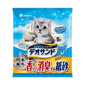 日本Unicharm消臭大師消臭紙砂-肥皂香5L
