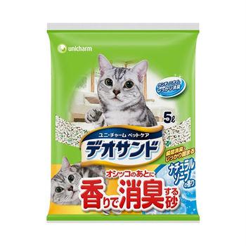 日本Unicharm消臭大師尿尿後消臭貓砂-肥皂香5L