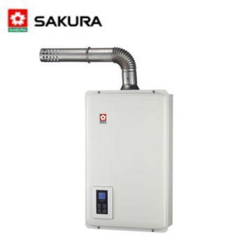 【櫻花】SH-1670F 屋內大廈型浴SPA數位恆溫強制排氣熱水器 16L