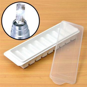 《超值2入》日本MAKINOU 安心無毒長型9格附蓋冷凍製冰盒