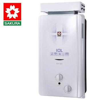 【櫻花】GH1021 屋外公寓抗風型熱水器 10L