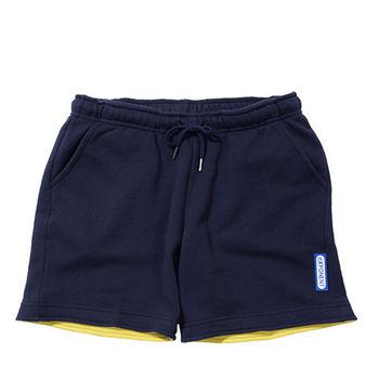 eXPONENT 素色100%純棉休閒短褲(丈青) H45T0111