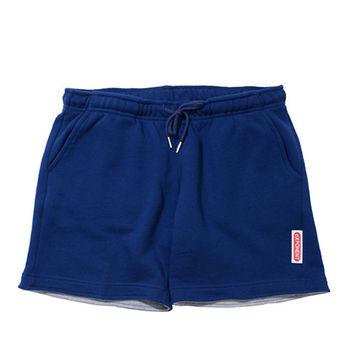 eXPONENT 素色100%純棉休閒短褲(深藍) H45T0120