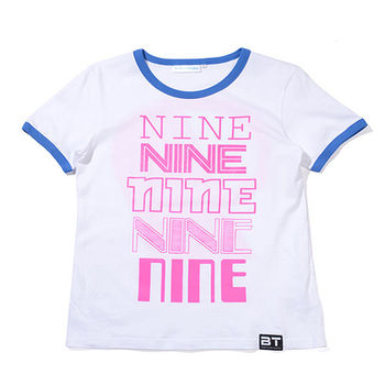eXPONENT NINE T恤(白) 214V0501