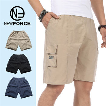 【NEW FORCE】輕薄透氣速乾多口袋工作短褲(1入-卡其) XL-3XL