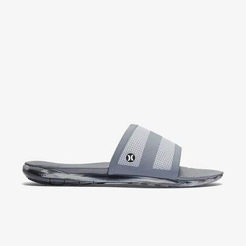 Hurley X Nike Free 科技 - PHANTOM FREE SLIDE 拖鞋 - 男(灰)