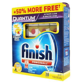 【美國 FINISH】洗碗機專用-洗碗膠囊38入(極致光亮-630g/22.2oz)