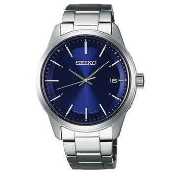SEIKO SPIRIT 萬年曆太陽能電波腕錶(SBTM231J)-藍/40mm/7B24-0BJ0B