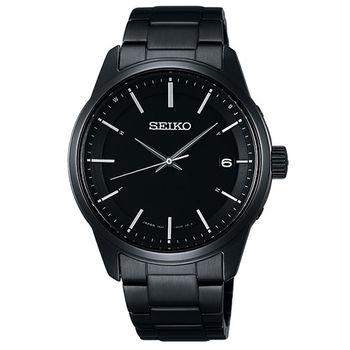 SEIKO SPIRIT 萬年曆太陽能電波腕錶(SBTM235J)-鍍黑/40mm/7B24-0BJ0SD