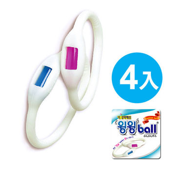 韓國MOSBALL超長效防蚊防水矽膠手環 M號 4入