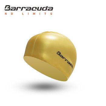 美國巴洛酷達Barracuda成人矽膠泳帽-金