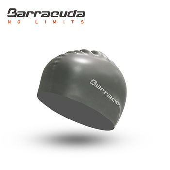 美國巴洛酷達Barracuda成人矽膠泳帽-銀