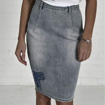 OneTeaspoon BLUE POWDER FREELOVE 牛仔裙- FREELOVE | 好萊塢破褲單寧時尚 OTS - 女 (灰藍)