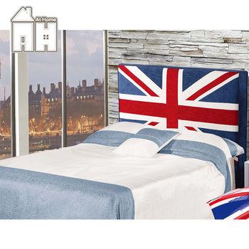 【AT HOME】英國5尺雙人床頭片