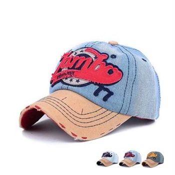 【米蘭精品】牛仔帽字母棒球帽運動休閒時尚刺繡73da24