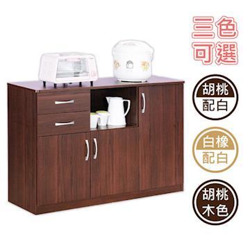 【Hopma】三門二抽五格廚房櫃三色可選