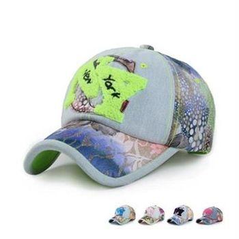 【米蘭精品】牛仔帽花布棒球帽毛巾繡時尚休閒防曬73da30